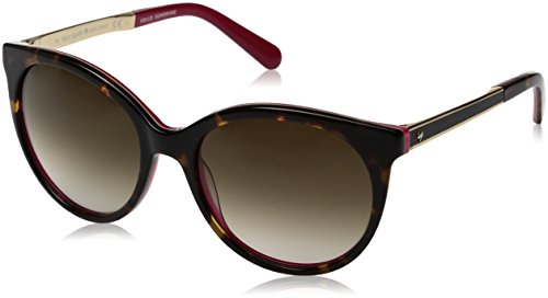 Kate Spade Women's Amayas Round Sunglasses, Havana Pink/Brown Gradient, 53 - Glasses Spade Pink Kate