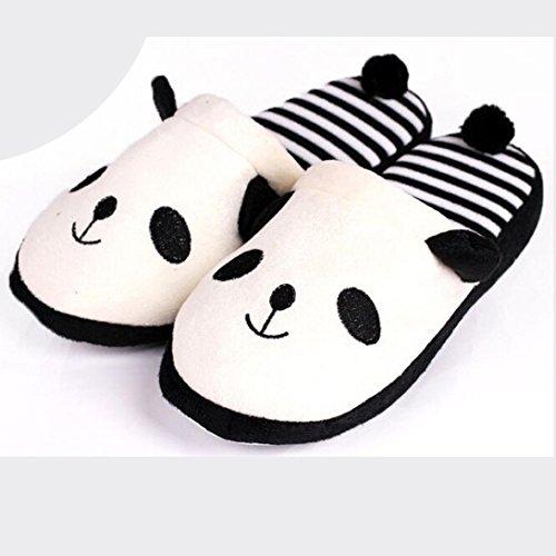 hause weibliche schuhe Bluester cartoon hausschuhe panda boden schöne weichen streifen weiß frauen qTwR7I