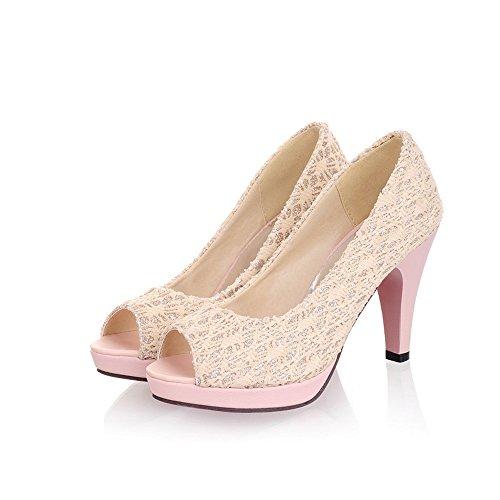 Fashion work pumps Stiletto shoes party Pink Women Court Heel Dressy High Shoes rFqARwxrH