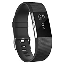 Fitbit Charge 2 Bands, Vancle Classic Edition Adjustable Comfortable Replacement Wristbands for Fitbit Charge 2 Heart Rate (No Tracker)