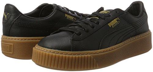 Puma Basket Donna puma Sneaker Black Black Nero puma Platform Core ffwqFdra