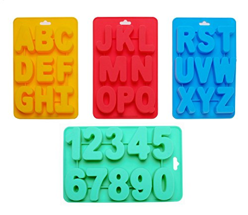 Silicone Alphabet & Number Trays Mold by Traytastic!
