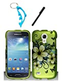 img - for 3 Items Combo For Samsung Galaxy S4 Mini i9190 / i9192 / i9195 Green Hawaiian Flower 2D Design Rubberized Hard Case Snap On Protector Cover + Free Stylus Pen + Free Alloy Beer Bottle Opener Dolphin Keychain book / textbook / text book