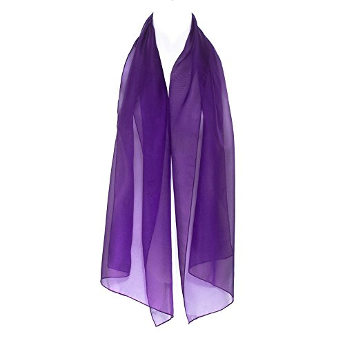 Classic Elegant Plain Dark Purple Chiffon Ladies Womens Scarf Shawl (Chiffon Socks)