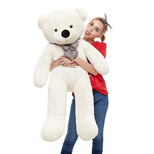 39'' Soft 100% Pp Cotton Toy Giant 100cm BIG Cute White Plush Teddy Bear Huge by Lanna -