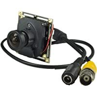 Ansice -- 2.1mm Lens Wide Angle Mini Cmos Board Camera 1000TVL With IR-CUT CCTV Security With Bonus Power Supply