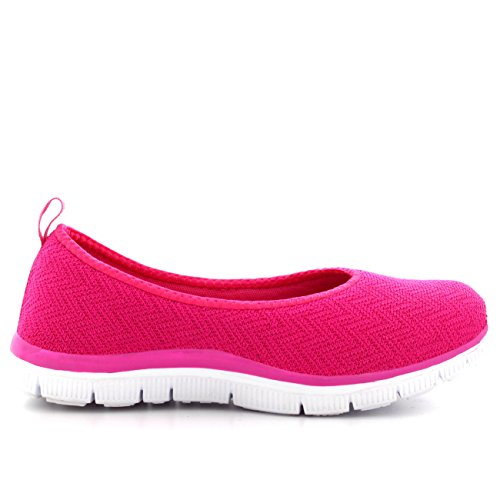 Get Fit Womens Running Sports Mesh Yoga Lightweight Gym Walking Sneakers Pink JBUxm