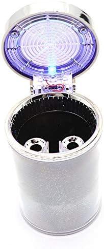 ほとんどの車のカップホルダーに適しブルーLEDライト、きれいに簡単に、アンチホットカラフル灰皿、と車の灰皿