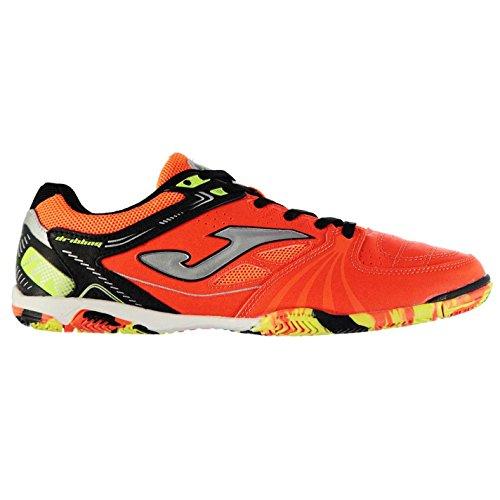 Joma Hombre Dribling Interior Corte Zapatillas Zapatos Deporte Entrenar Calzado Naranja fluorescente/Blanco