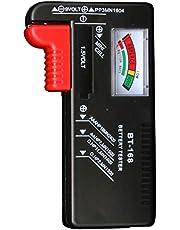 SURDARX Battery Tester, Universal Battery Checker for AA AAA C D 9V 1.5V Button Cell Batteries (Model: BT-168)