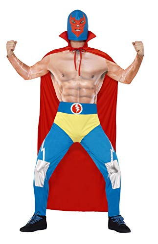 Smiffys Men's Mexican Wrestler Costume, Cape, Leggings,, used for sale  Delivered anywhere in USA