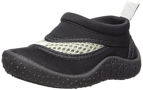 i play. Baby Unisex Swim Shoes,Black/White,4M