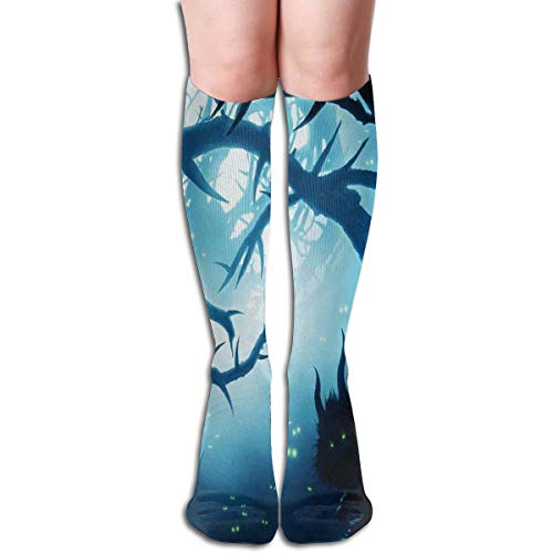 Compression Socks Graduated Stockings For Men & WomenAnimal With Burning Eyes In The Dark Forest At Night Horror Halloween IllustrationPrevents Swelling,Pain,for Running,Travel,Everyday Use -