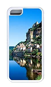 Cliffside Village Custom TPU White iPhone 5C Case and Cover