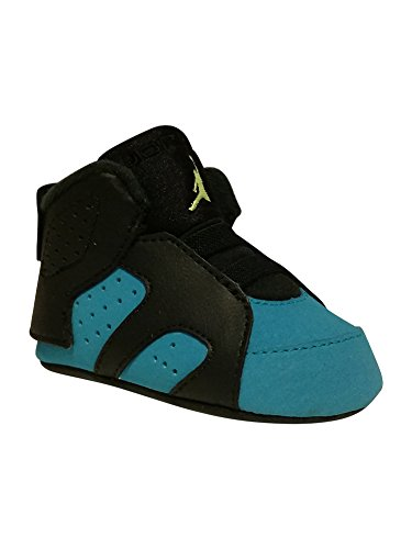 """Jordan Infant Retro 6 """"Turbo Green"""" Black/Volt Ice/Turbo Green/Black Leather and Synthetic Basketball Shoes 1c"""
