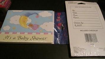 Amazon designware 8 baby shower invitations envelopes its designware 8 baby shower invitations envelopes quotits a baby showerquot baby m4hsunfo