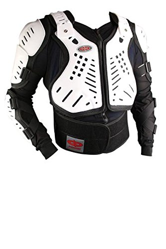 White And Black Motorcycle Jacket - 5