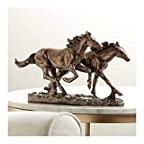 "Kensington Hill Horses Running Wild 8 1/2"" High Statue"