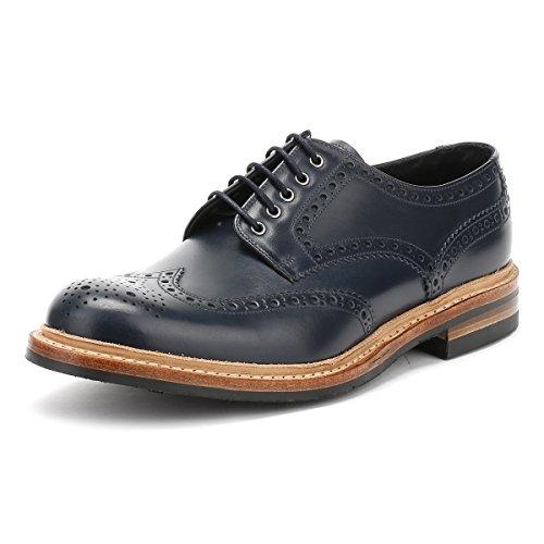 Loake Hommes Marine Worton Brogue Derby Chaussures