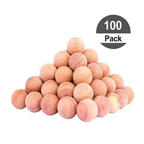 HomeDo 100Pack Cedar Balls for Clothes Storage, Cedar Closet Moth Protection with Cedar Fragrance, Cedar Blocks for Closets and Drawers, Very Cute Cedar Wood Chips (Cedar Balls-100pack)