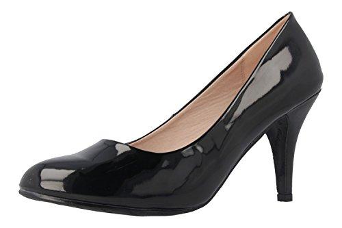 Mary Noir AM femme Sandales Noir style Janes pour qCEZTwC