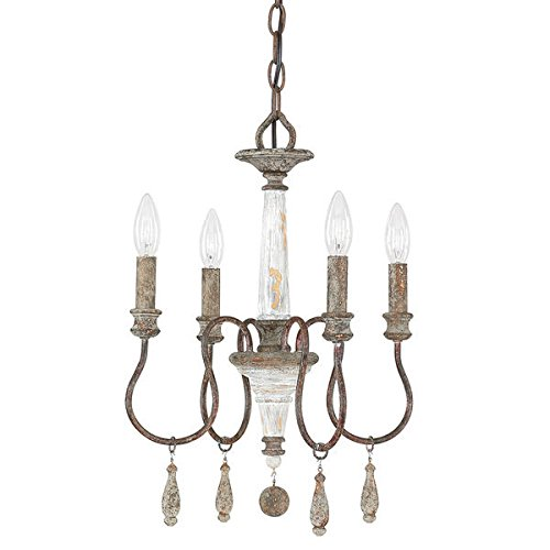 Austin Allen & Company Zoe Collection 4-light French Antique Mini Chandelier