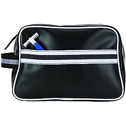 GOODHOPE Travel Grooming Amenity Shave Kit Storage Metro Modern PVC Leather Case