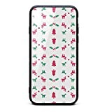 Christmas Love Deer and Holly Berries Printing iPhone X Case Plate and Soft TPU/Shock Proof/Anti-Finger Double Protection Phone Back Case Cover for iPhone X