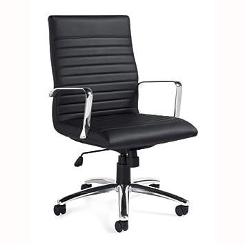 Delicieux Amazon.com: 11730B Luxhide Executive Chair, Black Luxhide, Chrome Arms U0026  Base: Computers U0026 Accessories