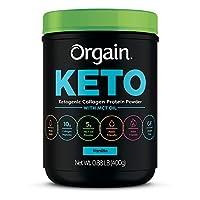 Orgain Keto Collagen Protein Powder with MCT Oil, Vanilla - Paleo Friendly, Grass...