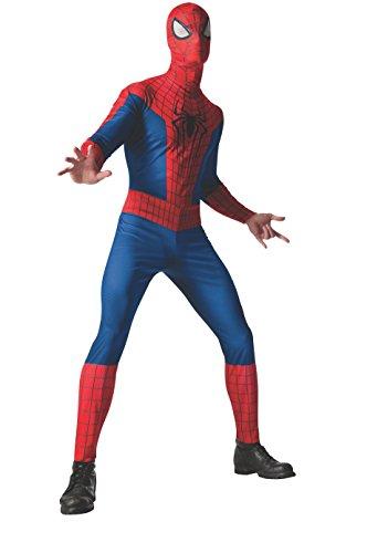 Rubie's Costume Men's Marvel Universe, The Amazing Spider-man 2 Spider-man Costume, Multicolor, One Size (Adult Amazing Spiderman Costume)