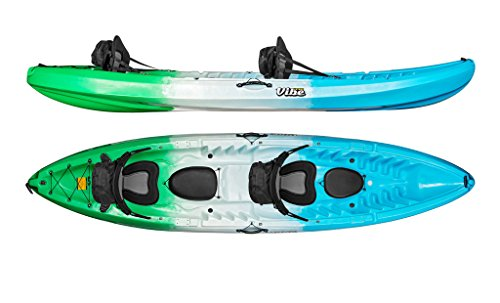 Vibe Kayaks Skipjack 120T Tandem Kayak Package (Sea Breeze 2 Deluxe Seats) (Tandem Fishing Kayaks)