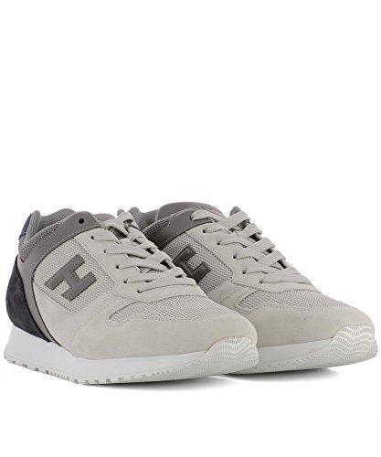 Hogan Herren Hxm3210y851i7g786s Grau Stoff Sneakers