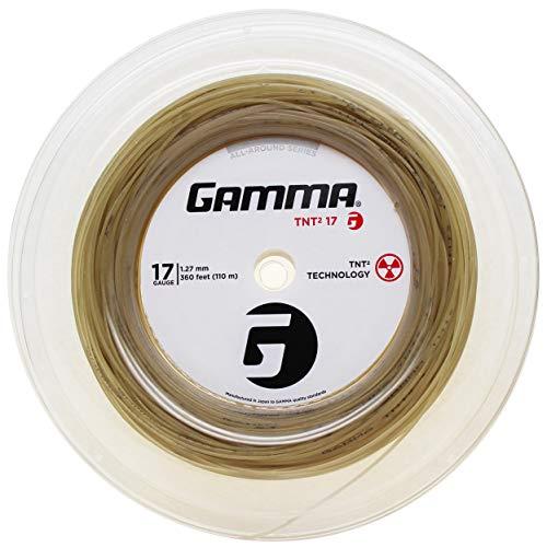 (Gamma Sports 17g TNT2 Tennis String Reel, 360', Natural)