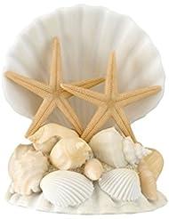 Lillian Rose Coastal Beach Seashell Wedding Cake Topper