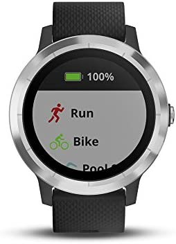 Garmin 010-01769-01 Vivoactive 3, GPS Smartwatch with Contactless Payments and Built-In Sports Apps, Black with Silver Hardware 41s1CAR 2B4XL