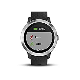 Garmin 010-01769-01 Vivoactive 3, GPS Smartwatch with Contactless Payments and Built-In Sports Apps, Black with Silver…