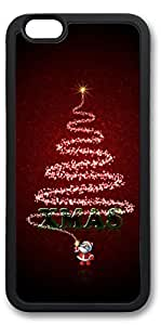 iPhone 6 Cases, Personalized Custom Soft Black Edge Case Cover for New iPhone 6 4.7 inch Merry Christams Tree