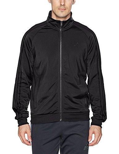 Zip Stripe Jacket (adidas Men's Essentials 3-Stripe Tricot Track Jacket, Black/Black, Large)