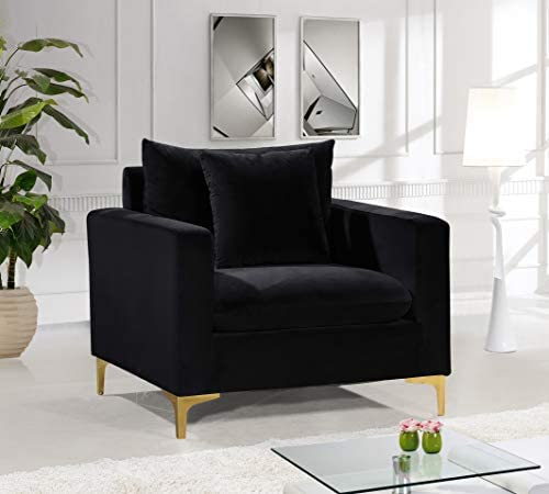 Meridian Furniture 633Black-C Naomi Collection Modern