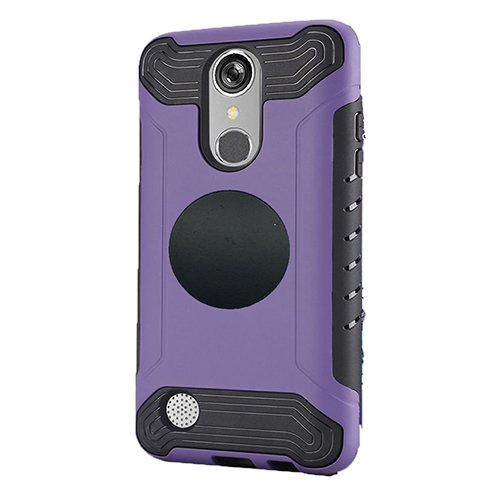 LG Rebel 3 Protective Case, Phone Case for Tracfone LG Rebel 3 Prepaid Smartphone, Screen Protector + Universal Air Vent Magnetic Car Mount Phone Holder (Purple) -  Tommulti