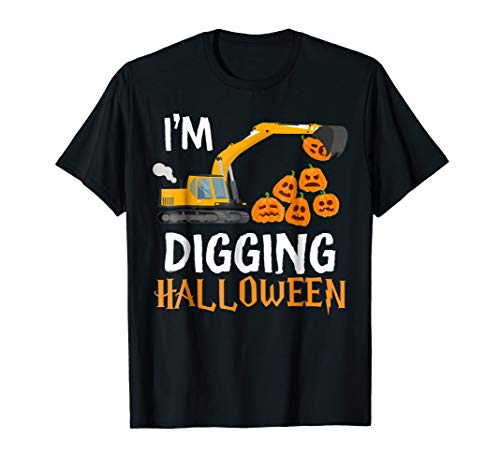 I'm Digging Halloween Tractor Digger Gift T-Shirt for Boy