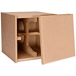Knock-Down MDF 0.75 cu. ft. Subwoofer Cabinet