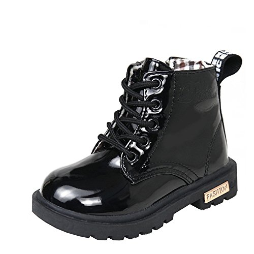 MK MATT KEELY Girls Boys Martin Boots Ankle Fashion Black Boots Princess Party Shoes High Top (Toddler/Little Kids)