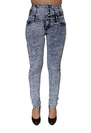 High Waist Acid Wash Colombian Design Jeans By JC&JQ-GP-4580 (7)