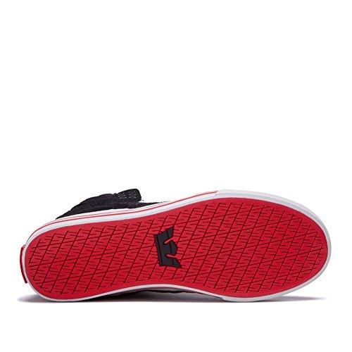 Supra Skytop S18091 - Zapatillas de ante para hombre negro/gris claro/rojo