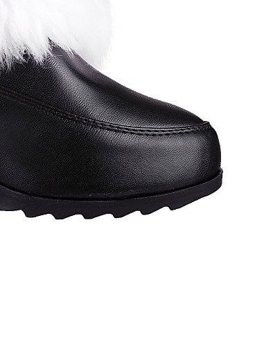 5 us9 Vestido Cerrada De Mujer Tacón negro Trabajo 5 Semicuero Oficina Cn43 Black Cn41 Rosa Uk8 Casual Zapatos Eu40 Xzz Redonda Pink Botas Y Uk7 Eu42 us10 Bajo Punta 407Hwxn