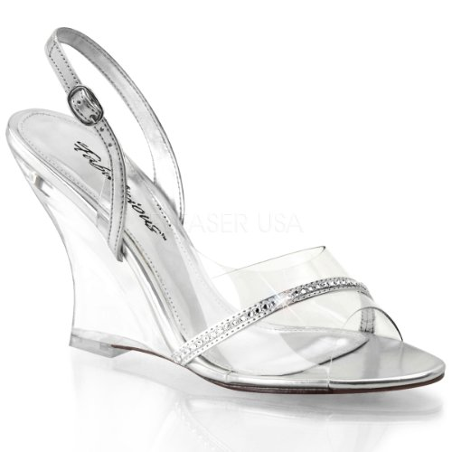 Fabulicious LOVELY-456 Clr-Slv Metallic Pu/Clr Size UK 8 EU 41