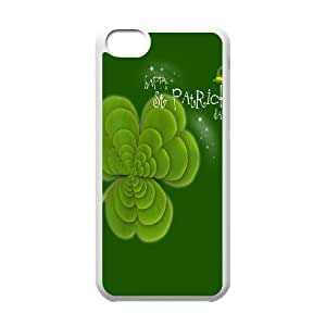 [H-DIY CASE] For Iphone 5c -Green Lucky Clover-CASE-13