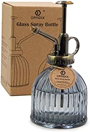 "OFFIDIX Plant Mister Flower Water Spray Bottle, 6.3"" Tall Vintage Style with Bronze Plastic Top Pump One"